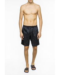 Versace - Black Swimming Shorts With Baroque Motif for Men - Lyst