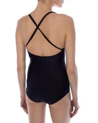 Gucci - Black One-piece Swimsuit With Logo - Lyst