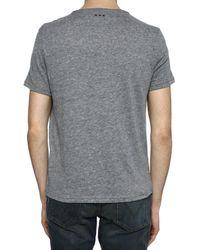 John Varvatos Gray Printed T-shirt for men