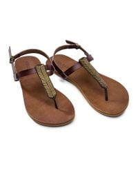 Volcom - Brown Luxe Sandals - Lyst