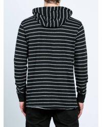 Volcom Black Breakers Long Sleeve Hoodie for men