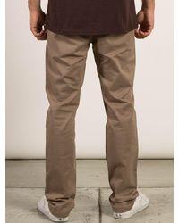 Volcom - Natural Frickin Slim Chino Pants - Off White - 28 for Men - Lyst