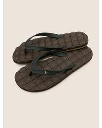 Volcom - Brown Recliner Ruber 2 Sandals - Blue Black - 10 for Men - Lyst