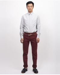 Homecore | Black Alex Twill Pant In Wine for Men | Lyst