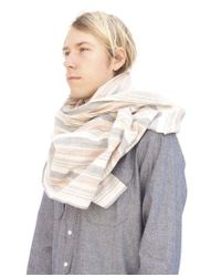 Dillon Montara | Blue Scarf - Small Rgb Varied Stripes for Men | Lyst