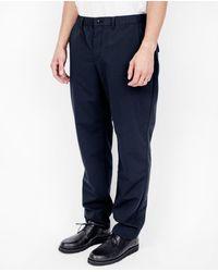 Still By Hand - Blue Inner Coating Pants / Navy for Men - Lyst