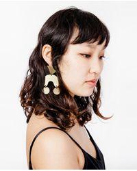 Modern Weaving - Multicolor Moon Dancer Earrings - Lyst