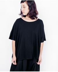 Kowtow - Drape Back Top / Black - Lyst