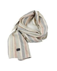 Dillon Montara - Blue Scarf - Small Rgb Varied Stripes for Men - Lyst