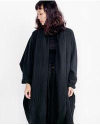 Uzi | Coarse Cotton Robe / Black / O/s | Lyst
