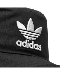 Adidas Originals - Black Bucket Hat for Men - Lyst