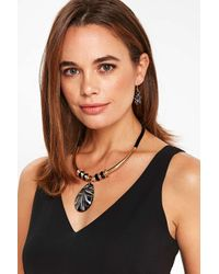 Wallis | Black Glitter Glass Jewellery Set | Lyst