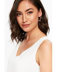 Wallis - Metallic Rose Gold Half Hoop Earring - Lyst