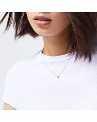 Warehouse - Metallic Personalised Necklace A - Lyst