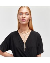 Warehouse - Multicolor Snake Multi-row Necklace - Lyst