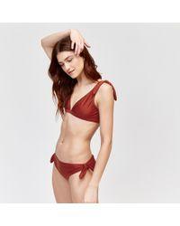 dd7a18a6ce87b Warehouse Tie Side Bikini Bottoms in Red - Lyst