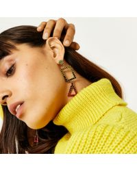 Warehouse - Multicolor Rainbow Mix Shape Earring - Lyst