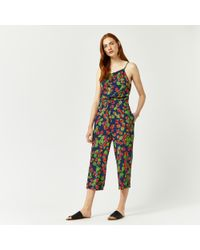 Warehouse - Blue Strawberry Print Jumpsuit - Lyst