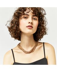 Warehouse | Metallic Multi Chain Necklace | Lyst