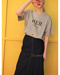 Fleamadonna - Multicolor Denim Pleats Skirt - Lyst