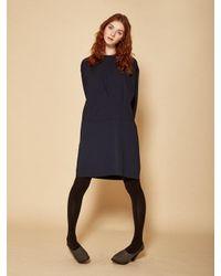 W Concept - Blue Pin Tuck Dress - Lyst