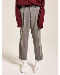 YAN13 - Multicolor Easy Wide Slacks Gray - Lyst