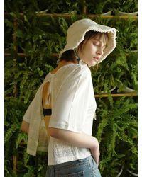 1159STUDIO - White [wxo] Lace Bolero T-shits_mhagsuts003_wh - Lyst