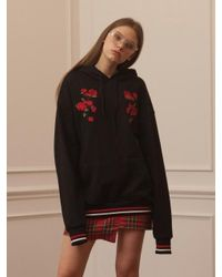 TARGETTO - Roses Hoodie Black Red - Lyst
