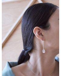 Matias - Metallic Square Crystal Earring - Lyst