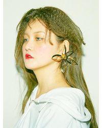 BABY CENTAUR - Metallic Magic Lily Earring - Big Size [ Gold ] - Lyst