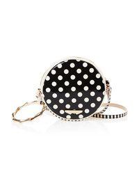 W Concept - Polka Dot Tambourine Bag Black - Lyst