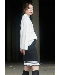 Noir Jewelry - Brown Rib Skirt - Lyst