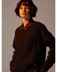 W Concept - Blue [unisex]artifacts X Tonywack - Reversible Mohair Knitwear Dark - Lyst