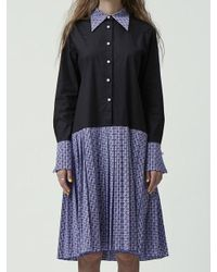 Fleamadonna - Blue Paiseley Pattern Matched Shirt Dress - Lyst