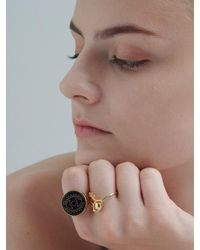 VIOLLINA - Multicolor Another V Evil Eye Onyx Ring - Lyst