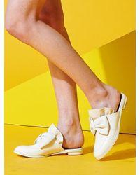 W Concept | White Frillnribbon Sloafer | Lyst