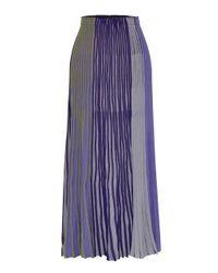 MOIMOII - Blue Combi Pleats Knit Skirt - Lyst
