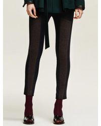 W Concept | Blue Zip Up Leggings Pants | Lyst