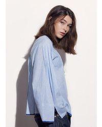 W Concept - Blue C L O Stripe Tunic Shirt Caf8jb02 Bl - Lyst