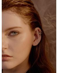 VIOLLINA - Metallic Another V Silver Rock Earcuff - Lyst