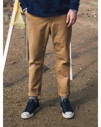 F.ILLUMINATE - [unisex] Normal Slub Cotton Pants-brown for Men - Lyst