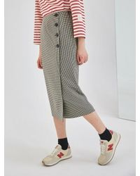 COLLABOTORY - Multicolor Baama7005m Plaid Midi Wrap Skirt - Lyst
