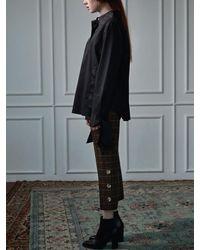 CLUE DE CLARE - Multicolor Button Slit Pants Brown - Lyst
