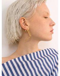 VIOLLINA - Metallic Hanguel Alphabet Single Earring-1 Gold - Lyst