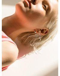 VIOLLINA Metallic Hanguel Alphabet Single Earring-5 Silver