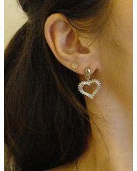 FLOWOOM - Metallic Heart Pendant Earring - Lyst