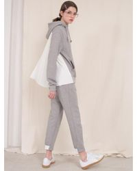 ANOTHER A - Suburbia Jogger Pants Gray Charcoal - Lyst