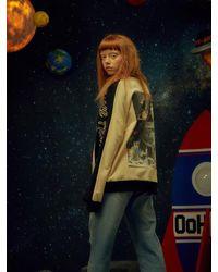 W Concept - Multicolor [unisex] Space Sweatshirts Cream - Lyst