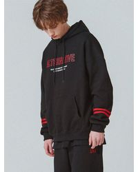 ONA - Black [unisex]sleeve Double Line Hoodie for Men - Lyst