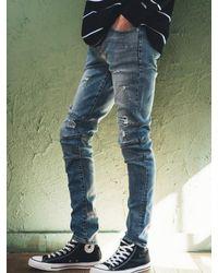 F.ILLUMINATE Blue 513 Rider Skinny Jeans for men
